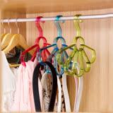 【PS Mall】花朵造型多功能多環衣架 圍巾架 絲巾架 領帶皮帶腰帶 收納掛架 (J614)