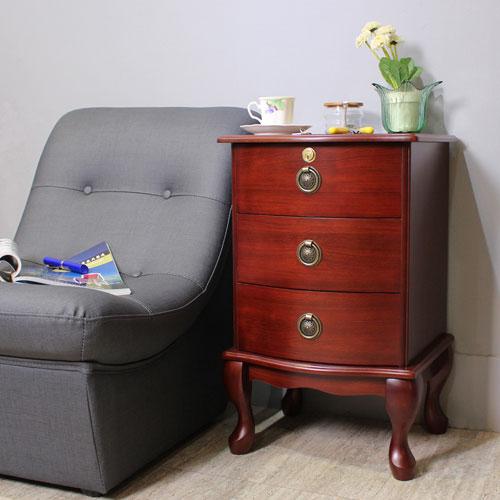 Asllie 英式三抽櫃/收納櫃/邊櫃/電話櫃/床頭櫃
