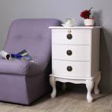 Asllie 艾薇三抽櫃/收納櫃/邊櫃/電話櫃/床頭櫃-白色
