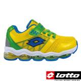 LOTTO 義大利 男童 氣墊跑鞋(螢光黃-LT6AKR3614)