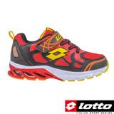 LOTTO 義大利 男中童 避震跑鞋 (黑/紅-LT6AKR3620)