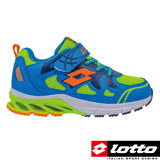 LOTTO 義大利 男中童 避震跑鞋 (藍-LT6AKR3626)
