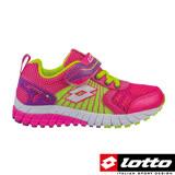 LOTTO 義大利 女童 避震跑鞋(粉紅-LT6AKR3633)