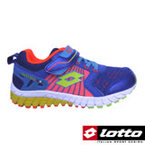 LOTTO 義大利 男童 避震跑鞋(藍-LT6AKR3636)