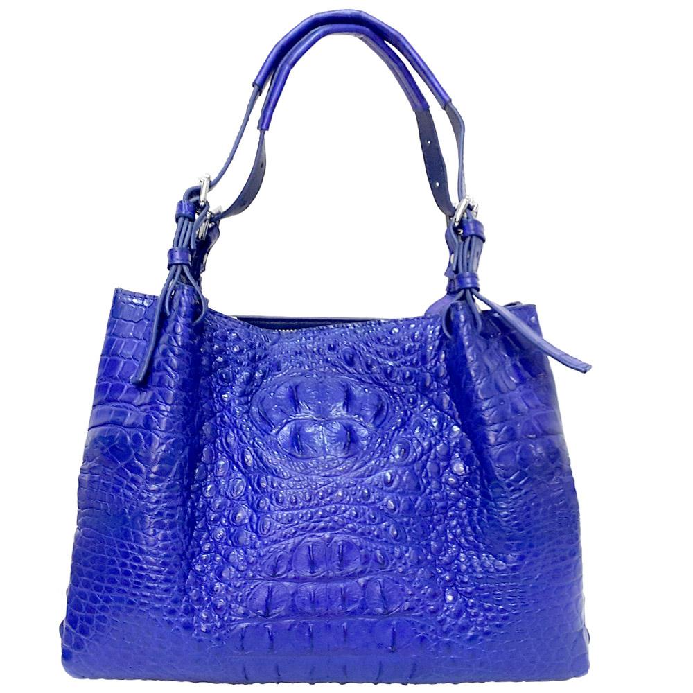 【M2ND】凡爾賽鱷魚皮包(珍稀皮革系列 藍)