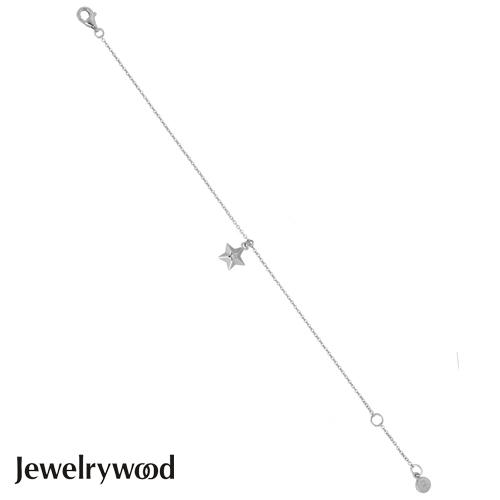 Jewelrywood 純銀香榭大道星光天然鑽石手鍊