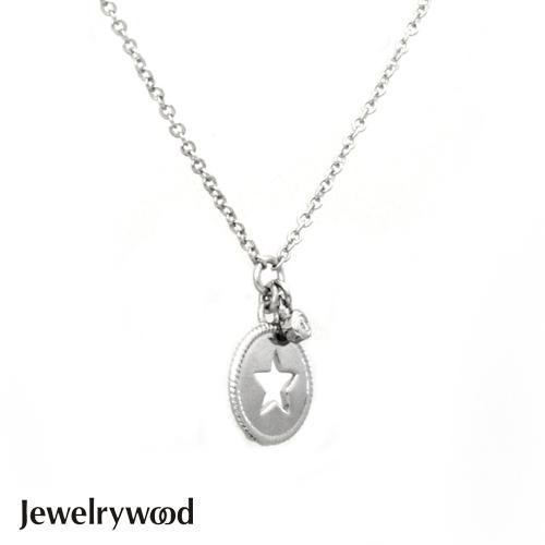 Jewelrywood 純銀花都浪漫星空天然鑽石項鍊