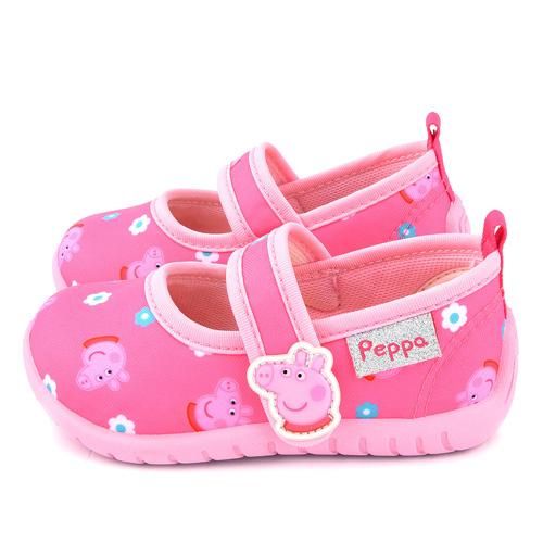 童鞋城堡-粉紅豬小妹 佩佩豬 中童 卡通印花休閒鞋PG8538-粉
