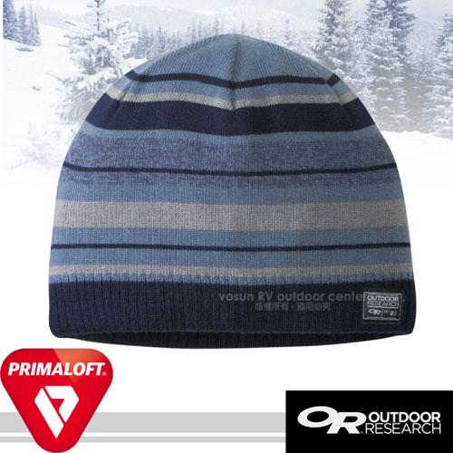 【Outdoor Research】Baseline Beanie 輕量抗水透氣毛織保暖帽子(內層PrimaLoft Gold_加倍聚熱)毛線帽.編織帽.針織帽/254062 藍
