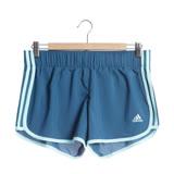 adidas 女 運動短褲 M10 WOVEN SHORT 藍 -CE2008