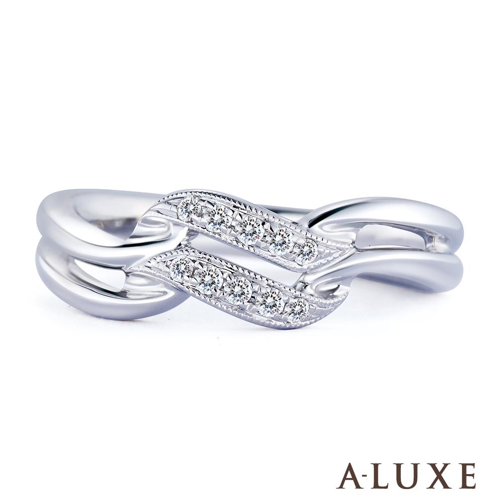 AA-LUXE 亞立詩 18K金 雙星鑽石尾戒