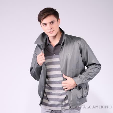 ROBERTA諾貝達 台灣製 防潑水 簡約大方 夾克外套 灰色
