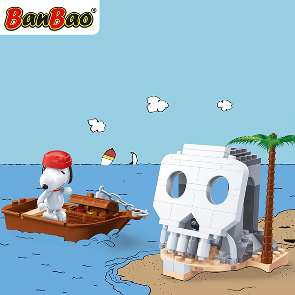 【BanBao 積木】史努比系列-發現骷髏島 7519 (樂高通用)