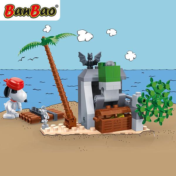 【BanBao 積木】史努比系列-蝙蝠洞藏寶 7520 (樂高通用)