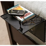 可折疊床邊整理置物架 多功能床邊沙發收納置物板 手機充電架 平板支架 隨機出貨