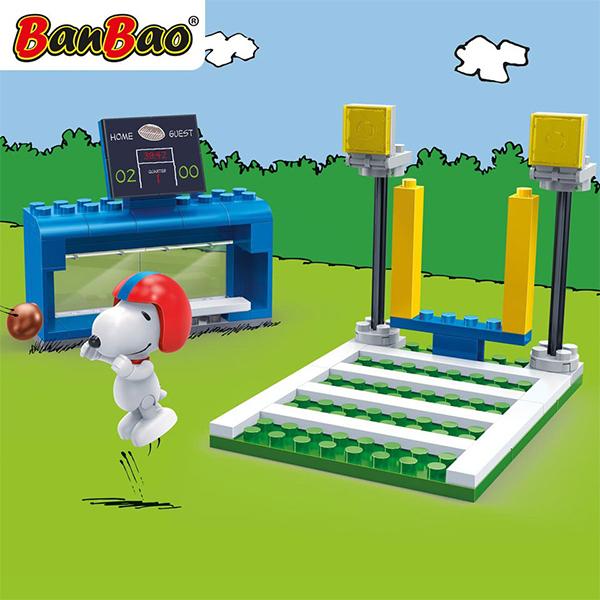 【BanBao 積木】史努比系列-美式足球場 7530 (樂高通用)