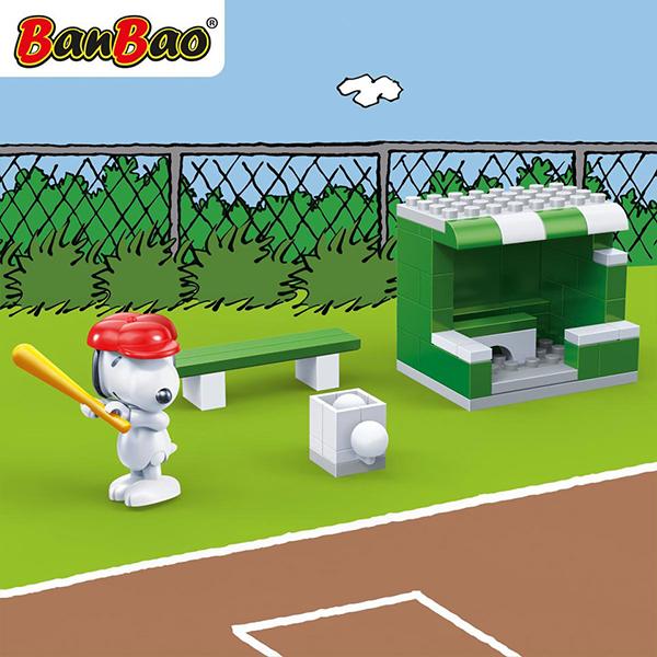 【BanBao 積木】史努比系列-棒球練習區 7531 (樂高通用)