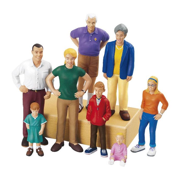 【華森葳兒童教玩具】建構積木系列-白人家族 N8-AA201
