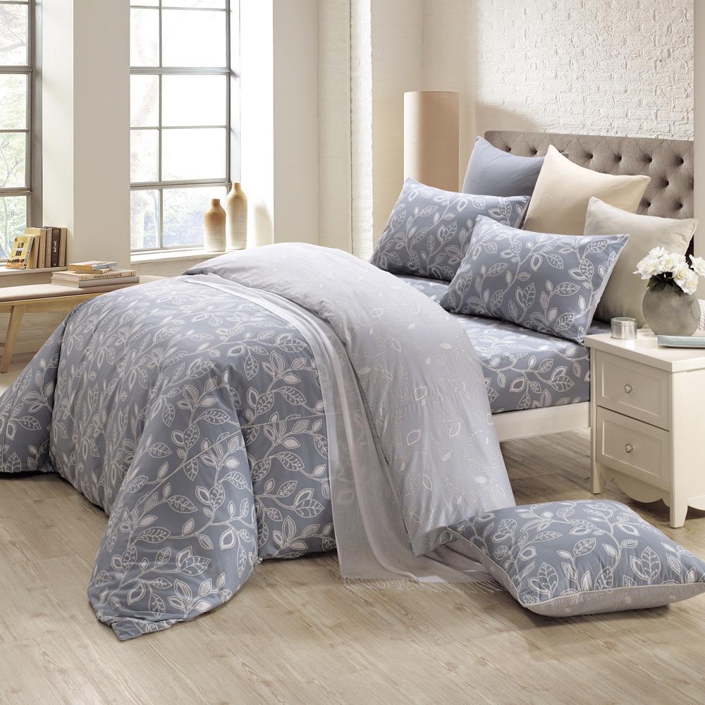 鴻宇HongYew《奧德曼 灰》精梳棉 雙人加大三件式床包組