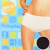 【sloggi】Everyday有機棉平口內褲兩件包 M-EL(黑)