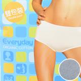 【sloggi】Everyday有機棉平口內褲兩件包 M-EL(灰)