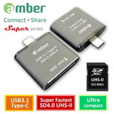 amber 超極速的SD4.0讀卡機OTG USB 3.1 Type-C to SD4.0 UHS-II reader/ writer_312 MB/s