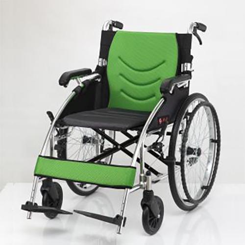 均佳 鋁合金流線型輪椅  JW-125  便利型 背可折