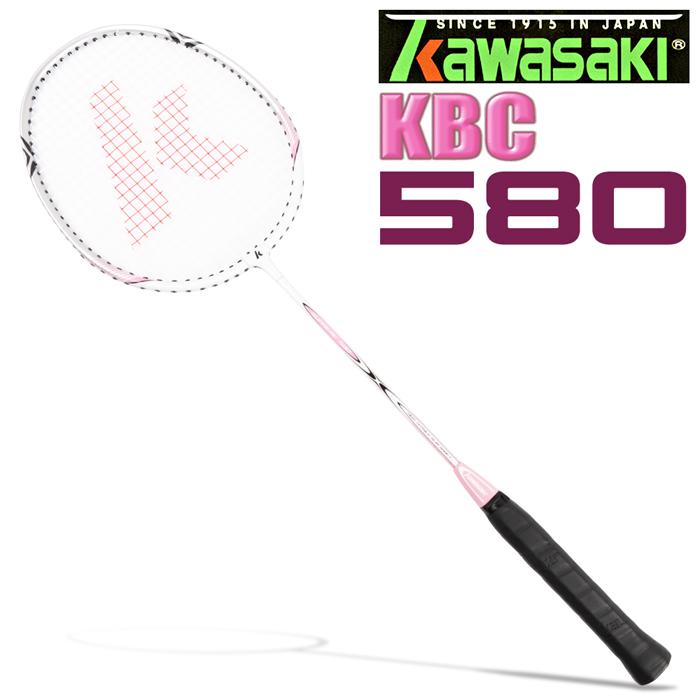 Kawasaki KBC580 碳纖維超輕鋁羽球拍(粉紅)