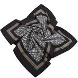 Calvin Klein LOGO字樣造型絲巾(咖啡色)