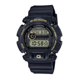 CASIO G-SHOCK 復刻時尚再造流行運動限量腕錶-黑金-DW-9052GBX-1A9