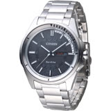 CITIZEN Eco-Drive 達人精選光動能男錶-黑(AW0030-55E)