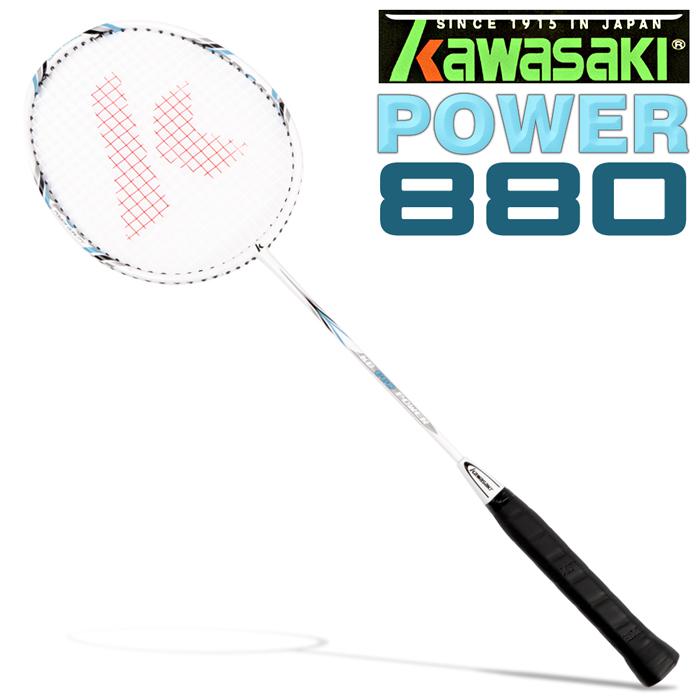 Kawasaki POWER880 碳纖維輕鋁羽球拍(紅)