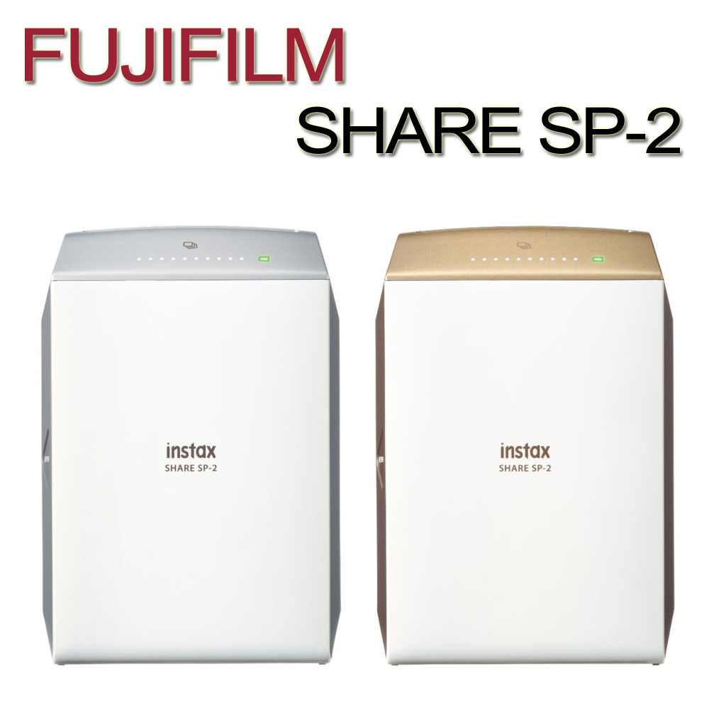 FUJIFILM instax SHARE SP-2 拍立得相印機 (平行輸入)贈卡通底片3盒(共30張/圖案隨機)