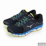 【Mizuno美津濃】男款慢跑鞋 WAVE SKY -黑色 (J1GC170205)全方位跑步概念館