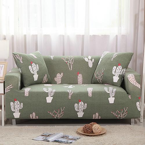 【歐卓拉】仙人掌彈性沙發套-1+2+3人座