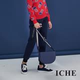 ICHE衣哲 城市時尚休閒縮口羊毛挺版微寬造型褲-藍