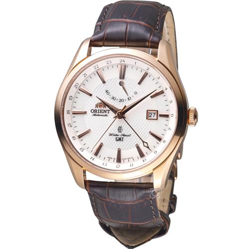ORIENT 東方錶 GMT系列雙時區機械錶 SDJ05001W