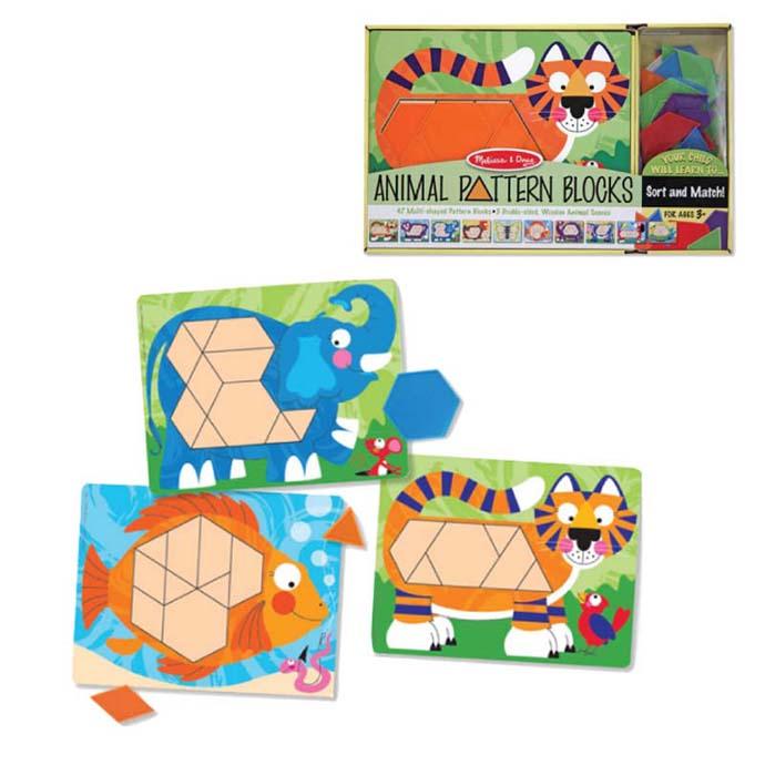 【華森葳兒童教玩具】益智邏輯系列-動物形狀卡片 N7-4382