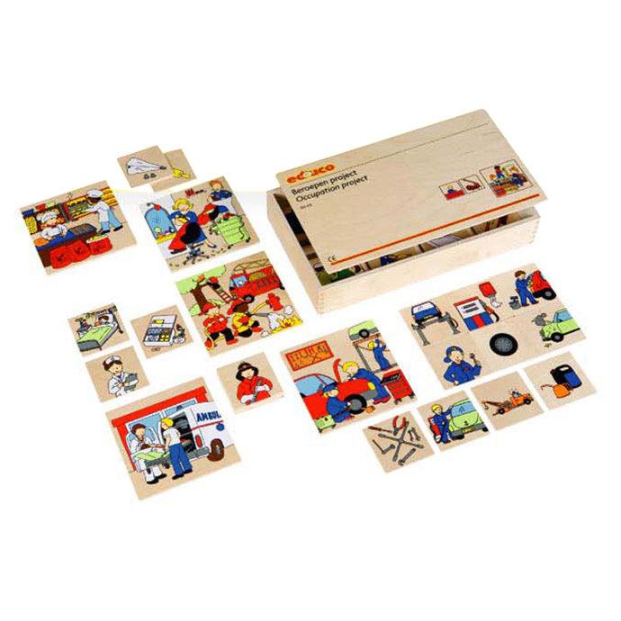 【華森葳兒童教玩具】益智邏輯系列-卡片分類遊戲-社會職業 K5-522325