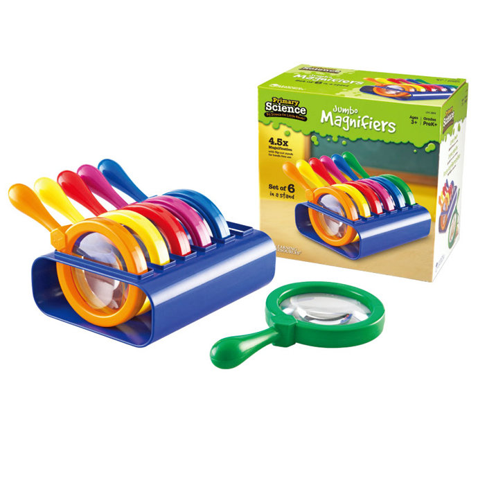 【華森葳兒童教玩具】科學教具系列-超大放大鏡 (含架) N1-2884