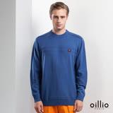 歐洲貴族oillio 長袖毛衣 圓領款式 質感羊毛 藍色