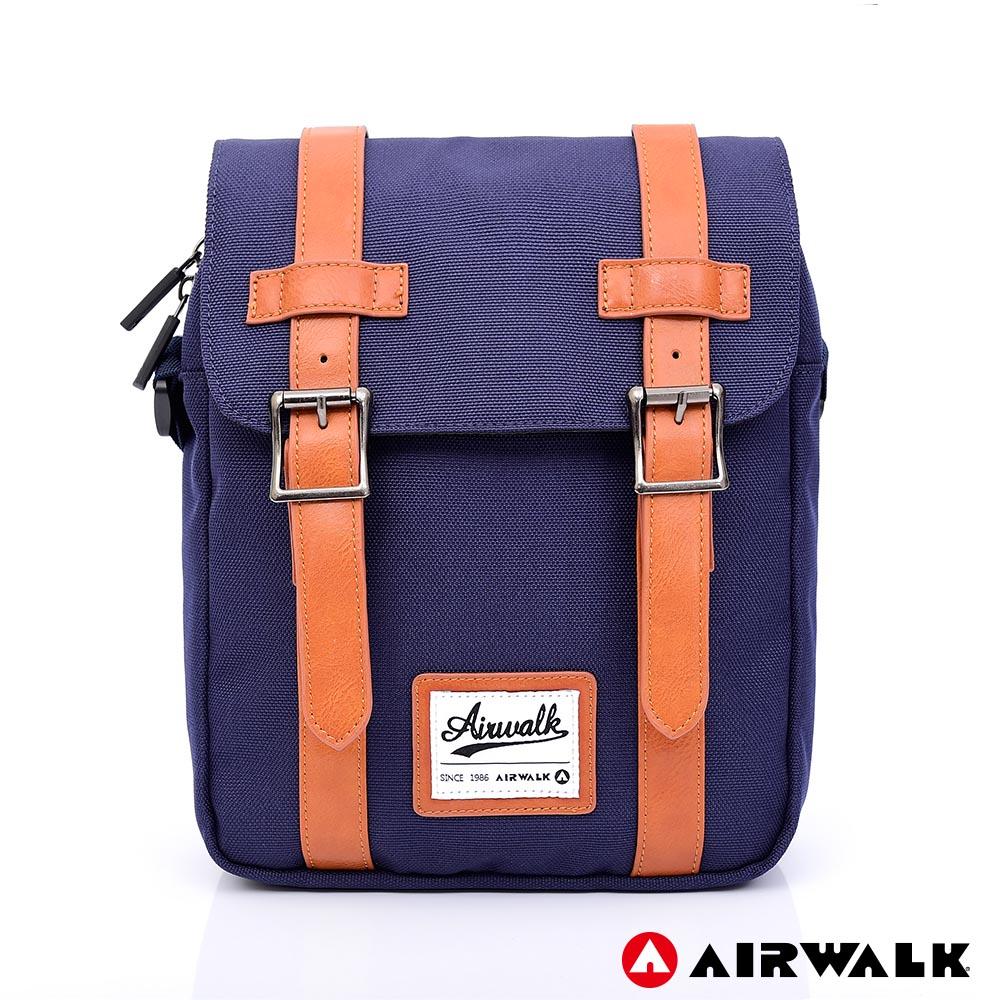 AIRWALK -英倫學院經典側背包-藍色