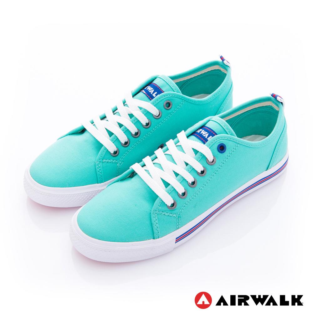 【美國 AIRWALK】美式百搭休閒帆布鞋-女款(綠色)