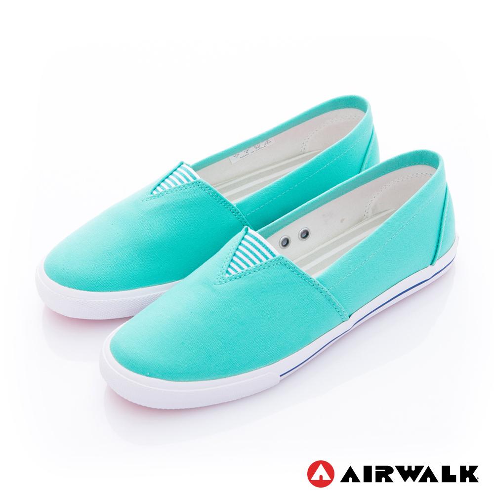 【美國 AIRWALK】百搭舒適休閒帆布鞋-女款(淺綠色)