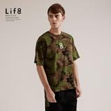 【Life8】Casual 迷彩ARMY 竹節棉質寬版上衣-03815-迷彩