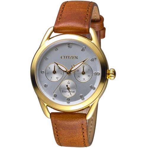 星辰 CITIZEN Ladies光動能獨具格調限量腕錶 FD2058-19A