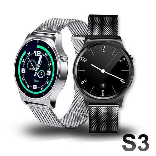 SAMGO S3+ 經典米蘭尼斯金屬鍊帶心率通話手錶 藍芽運動手錶