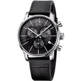 Calvin Klein CK City 都會紳士計時手錶-黑/43mm K2G271C3