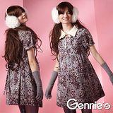 Gennies奇妮-花卉典雅長版秋冬孕婦上衣(G3222)