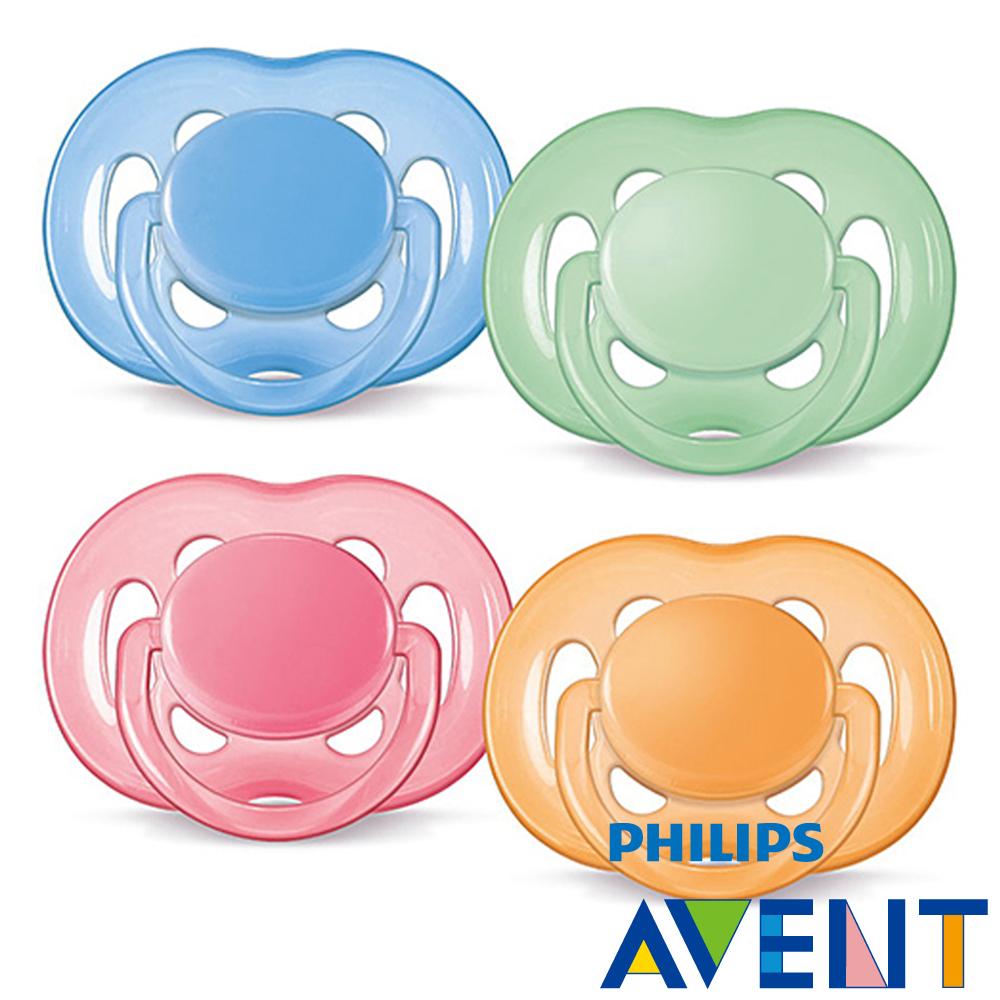 PHILIPS AVENT 粉彩系列矽膠安撫奶嘴6-18M+(雙入)